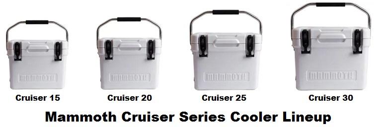 mammoth cruiser series cooler lineup