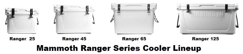 mammoth ranger series cooler lineup