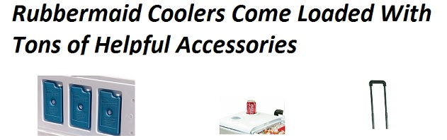 rubbermaid cooler accessories