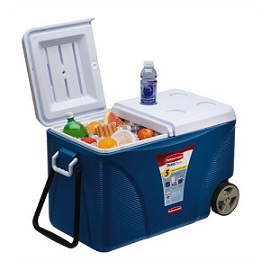 blue rubbermaid extreme wheeled cooler