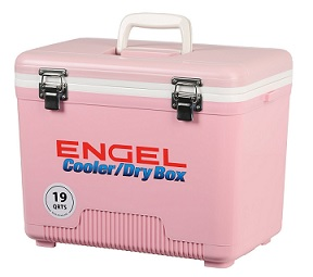pink engel cooler dry box