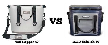 yeti hopper 40 vs rtic softpak 40