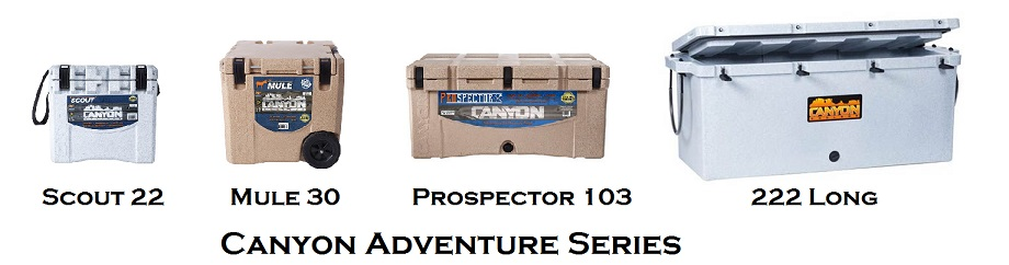 canyon adventure series cooler lineup