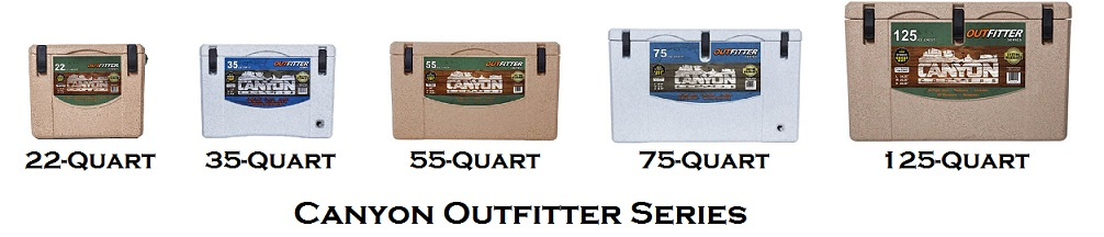 canyon outfitter series cooler lineup