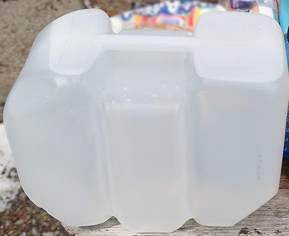 frozen water jug