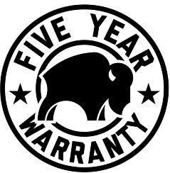 bison cooler 5-year warranty