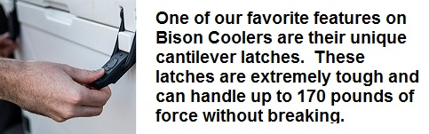bison cooler cantilever latches