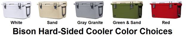 bison cooler color choices