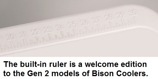 bison cooler ruler