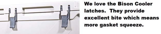 bison coolers latch system