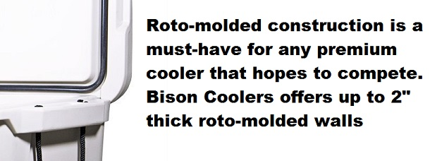 bison coolers roto-molded walls