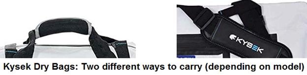 kysek dry bag carrying methods