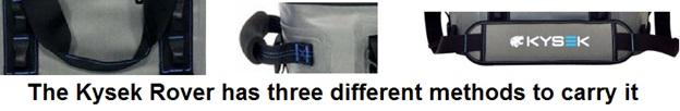 kysek rover softbag carrying methods