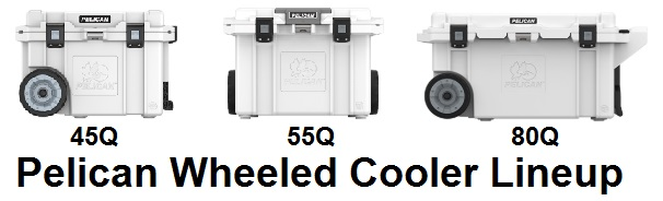 pelican elite wheeled cooler lineup