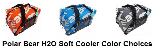 polar bear h2o cooler color options