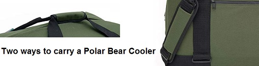 polar bear nylon cooler carrying methods