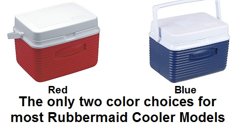rubbermaid cooler color choices