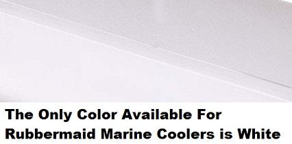 rubbermaid marine cooler colors
