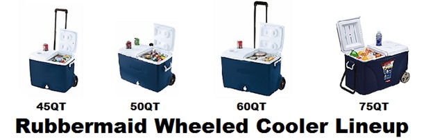 rubbermaid wheeled cooler lineup