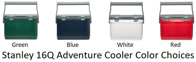stanley 16q adventure cooler color choices