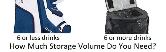 golf cooler storage volume