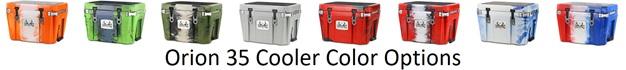 orion 35 cooler color options