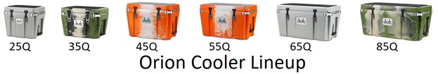 orion cooler lineup