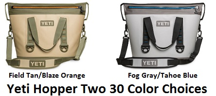 yeti hopper two 30 color choices