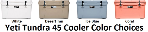 yeti tundra cooler 45 color choices