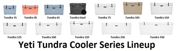yeti tundra cooler series lineup