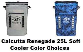 calcutta soft cooler color choices