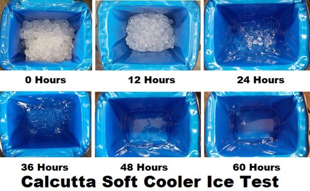 calcutta soft cooler ice tests