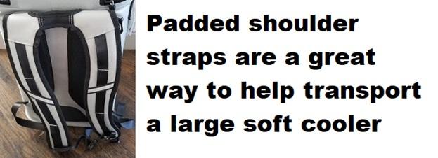 best soft cooler padded shoulder straps