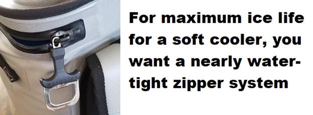 best soft cooler zipper system