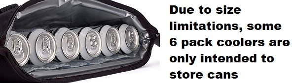 best 6 pack coolers can storage