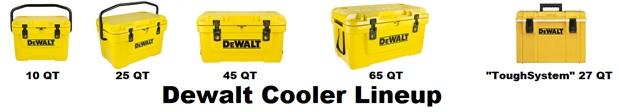 dewalt cooler lineup