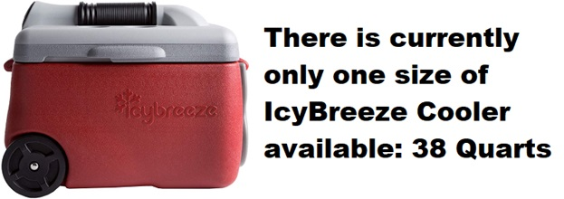 icybreeze cooler sizes
