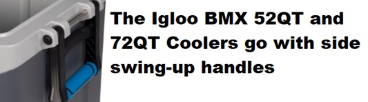 igloo bmx cooler 52qt and 72qt handles
