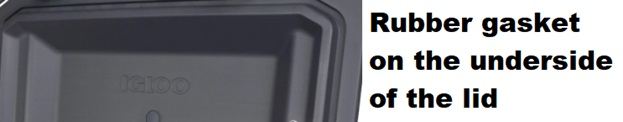 igloo bmx cooler rubber gasket
