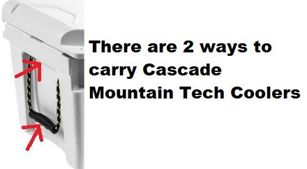 cascade mountain tech cooler handles